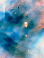Hubble image of protoplanetary systems