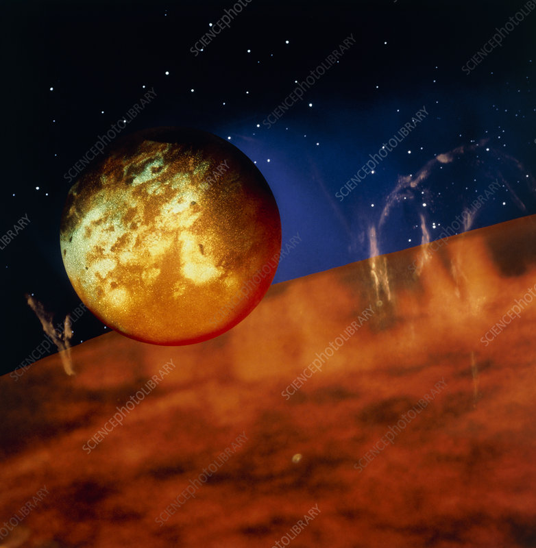 Composite image of the planet 51 Pegasi B