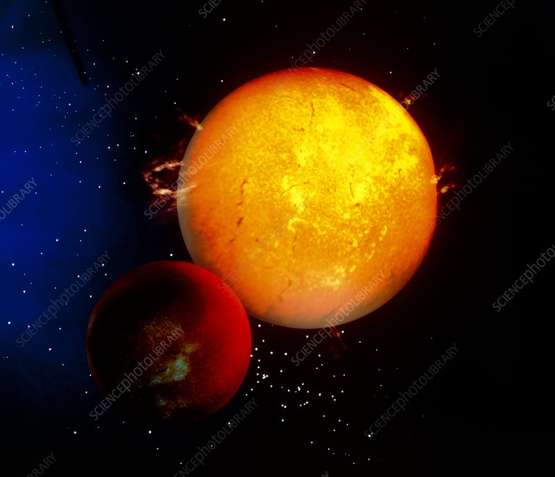Artist's impression of planet 51 Pegasi B