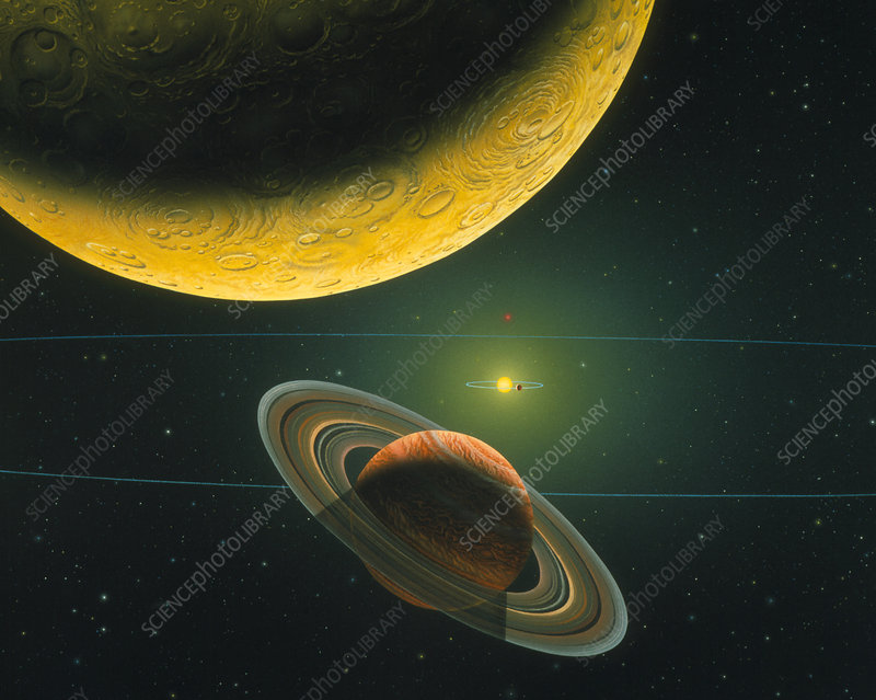 Artwork of the 55 Cancri b and c planets