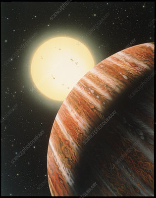 Artwork of the Tau Bootes b planet