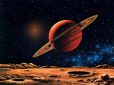 Artwork of Lalande 21185 planetary system