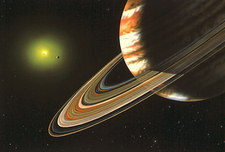 Artwork of Upsilon Andromedae planetary system