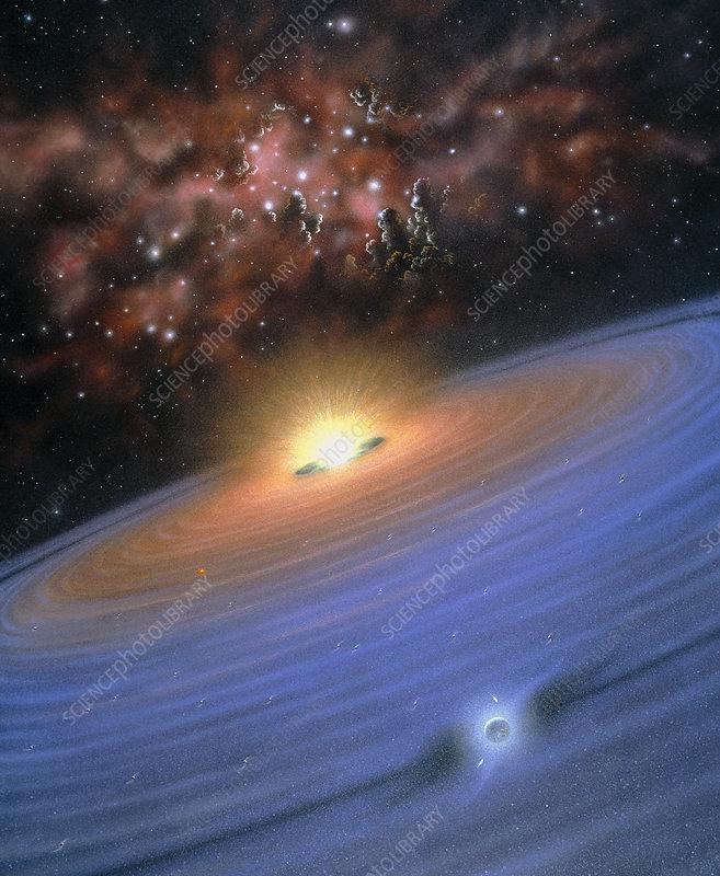 Alien planet forming