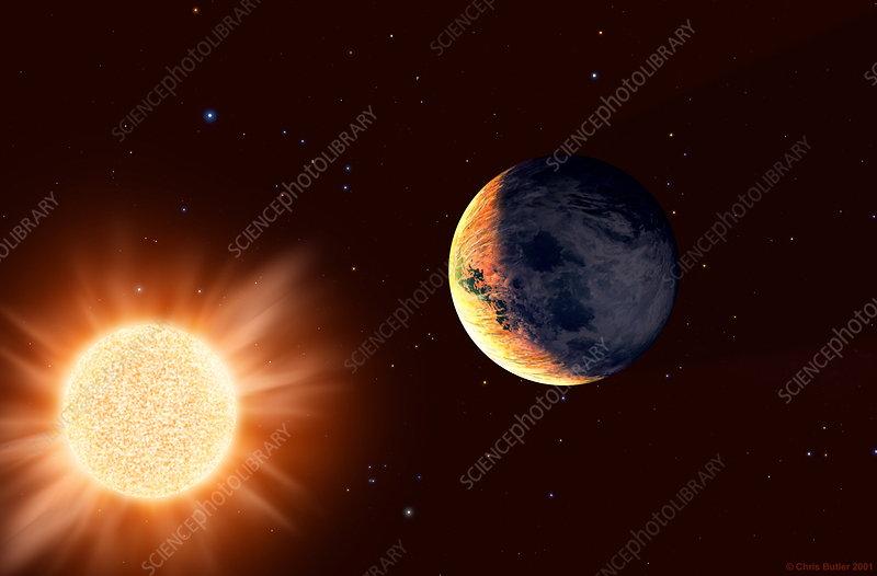 Planet orbiting Barnard's Star