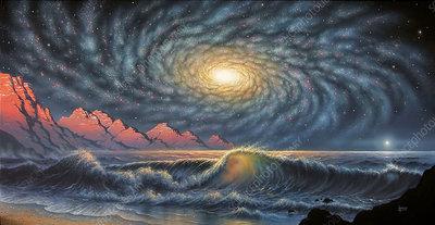 Alien night sky