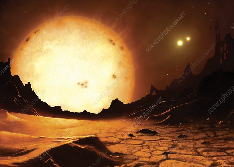 Proxima Centauri from an orbiting planet