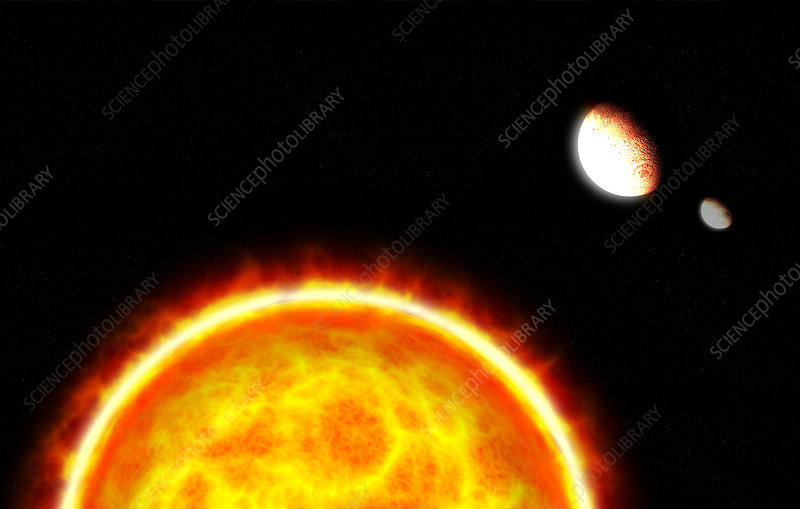 Alien planet and star