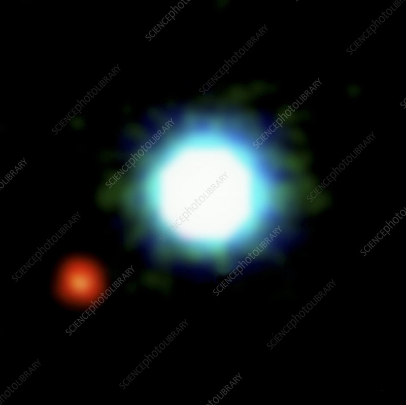Possible first exoplanet image