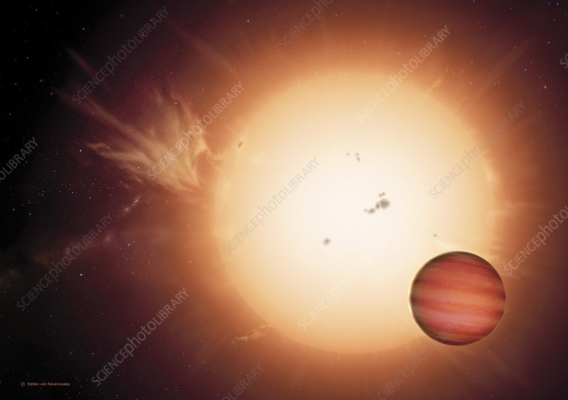 Alien planet 79 Ceti b and its sun