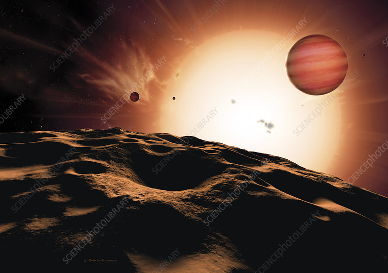 Alien planet HD 209458 b and its sun