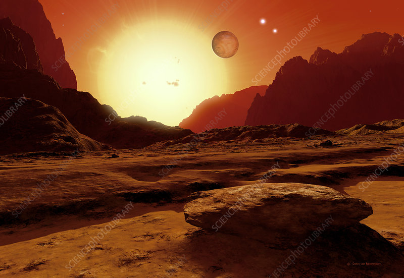 Landscape of an alien world, artwork