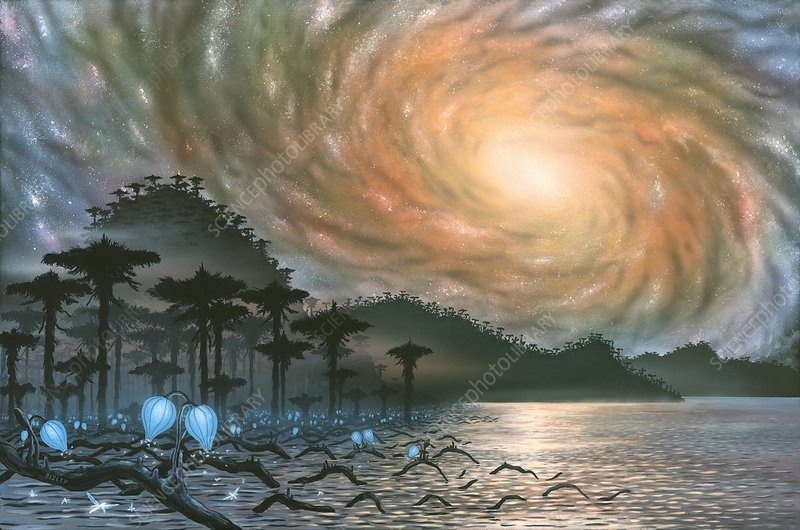 Alien landscape, artwork
