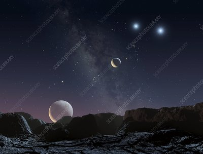 View from an alien planet, artwork
