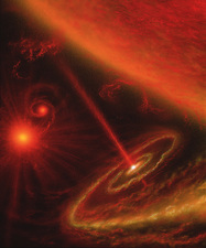 Black hole & red giant star
