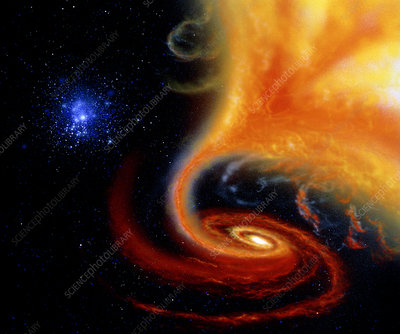 Artwork: binary star system containing black hole