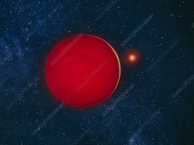 Artist's impression of brown dwarf star