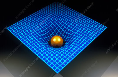 Computer artwork depicting spacetime
