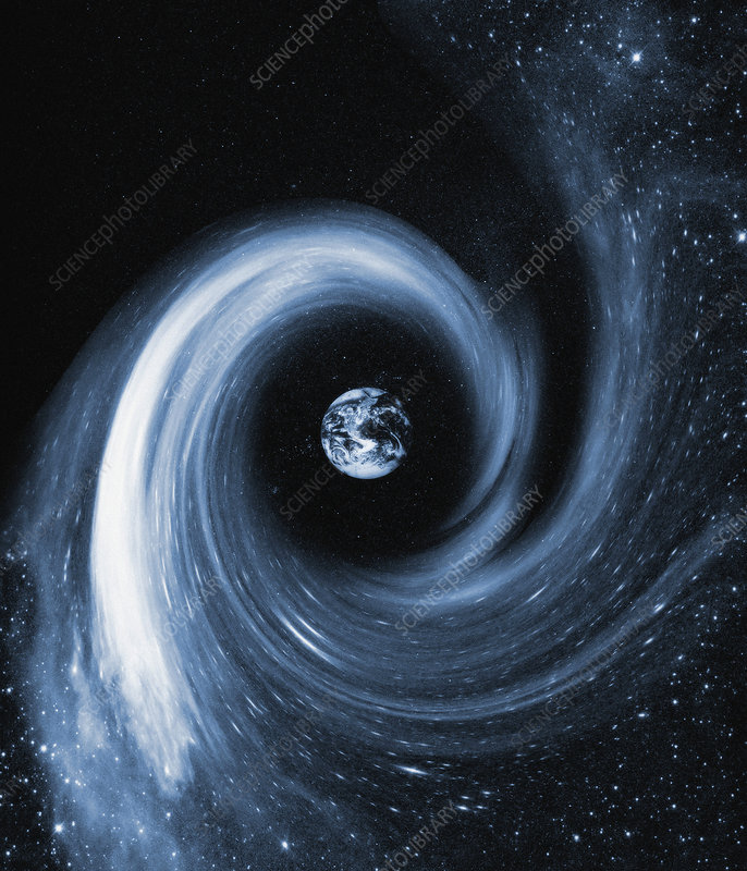 Earth in a black hole, artwork