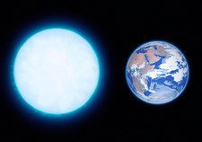 White dwarf star and Earth