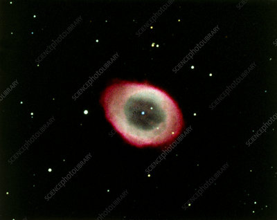 Optical photograph of M57, the Ring Nebula