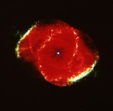 The Cat' eye Nebula seen from the Hubble Telescope
