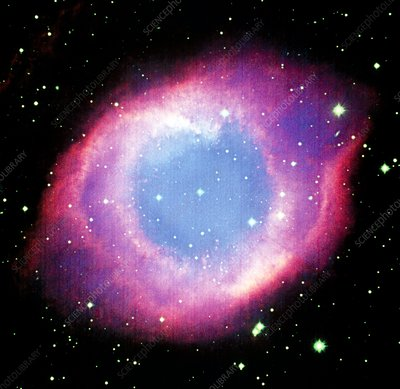 CCD optical image of the Helix nebula NGC 7293