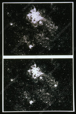 Before & after photos of supernova SN 1987A
