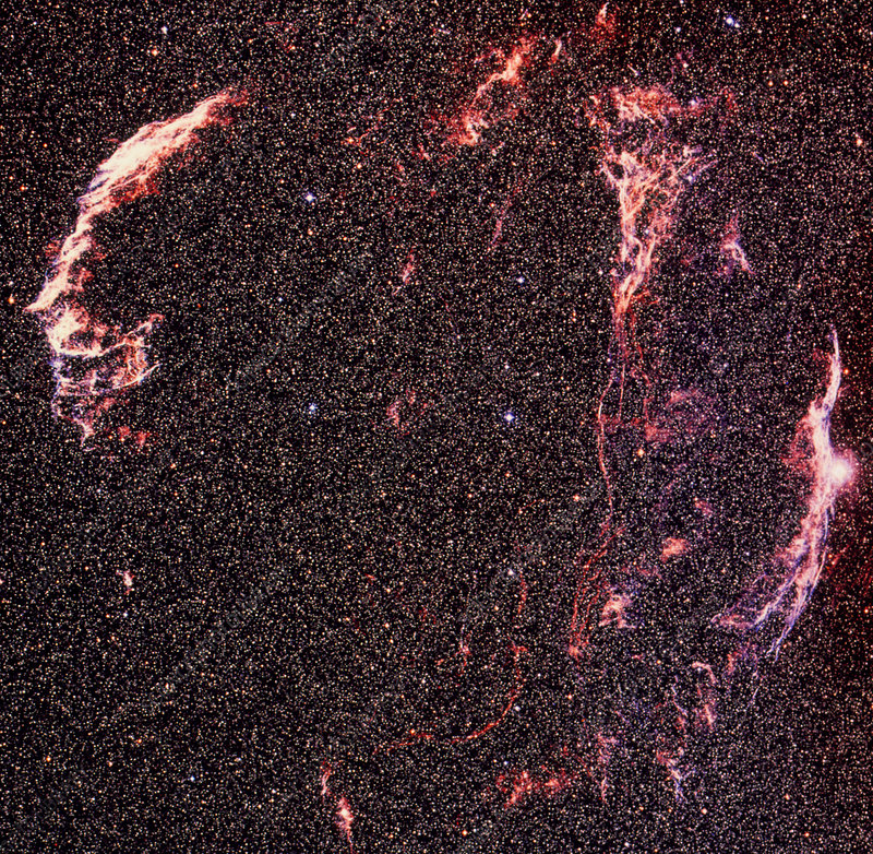 Optical image of the Cygnus loop supernova remnant