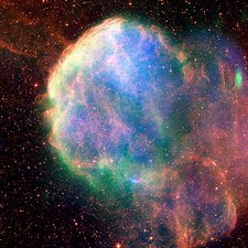 Supernova remnant IC 443, composite image
