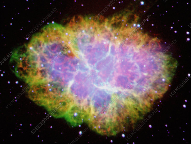 Visible light image of the Crab Nebula