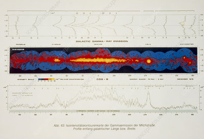 Cos-B gamma-ray map of the band of the Milky Way