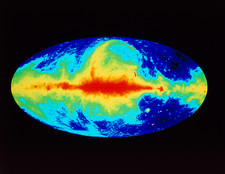 Radio map of the whole sky showing Milky Way