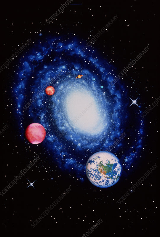 Milky Way & planets