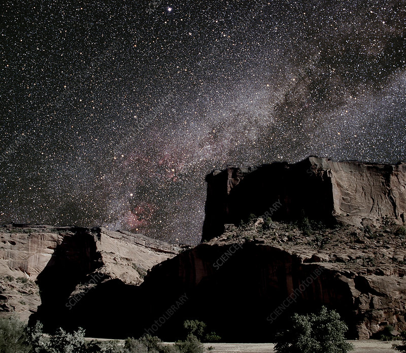 Milky Way over canyon