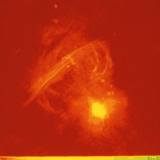 Radio image of Sagittarius A in galactic centre