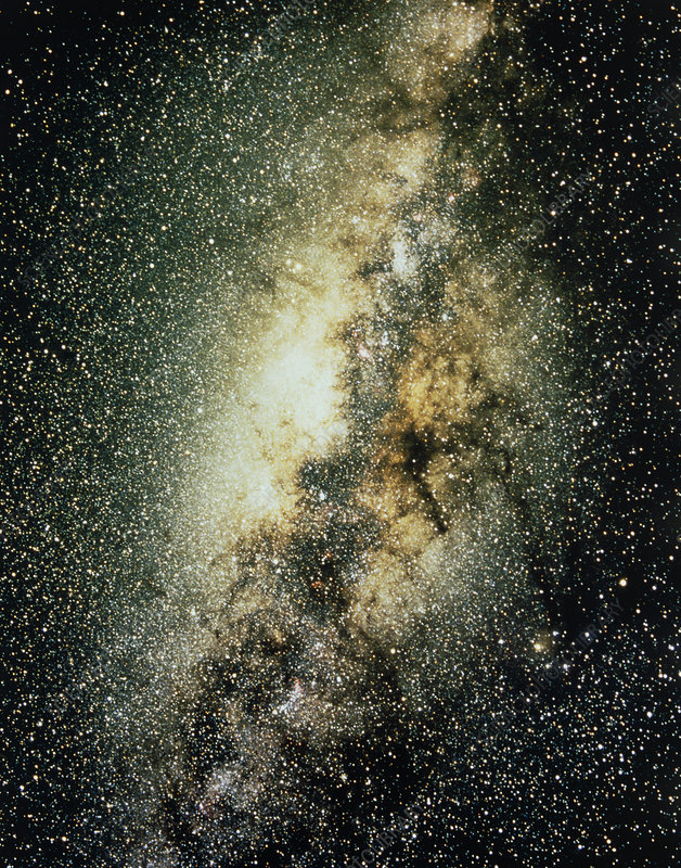Optical photo of the centre of the Milky Way