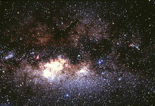 Central Milky Way in constellation Sagittarius