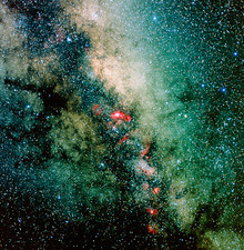 CCD optical image of the Milky Way in Sagittarius