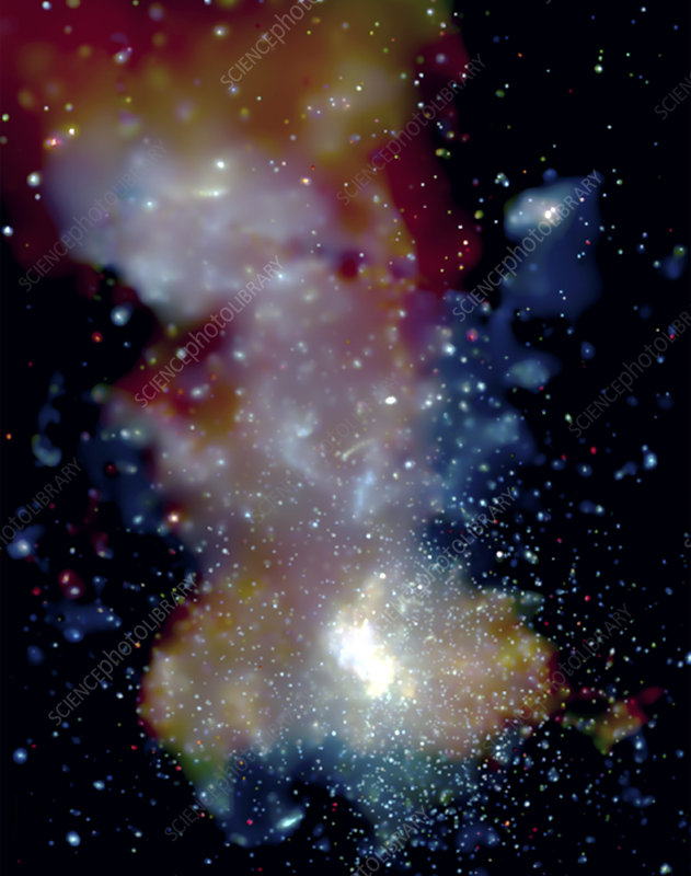 Milky Way galactic centre, X-ray image