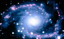 Optical CCD image of spiral galaxy NGC 2997