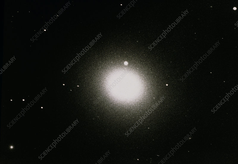 Optical photograph of the elliptical galaxy M49