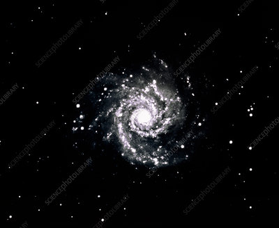 Optical photograph of the spiral galaxy M74