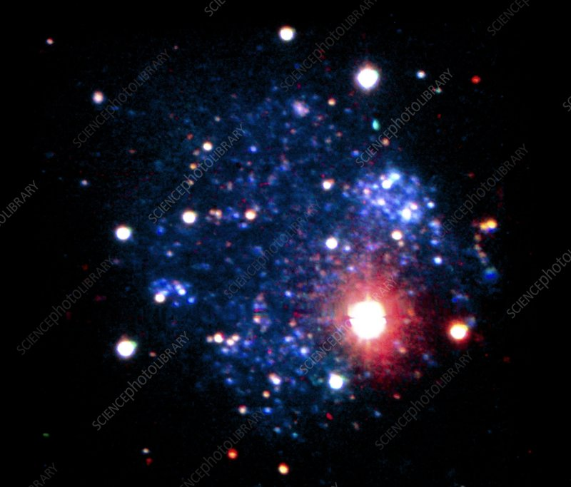 Optical CCD image of SEX-A a Local Group galaxy