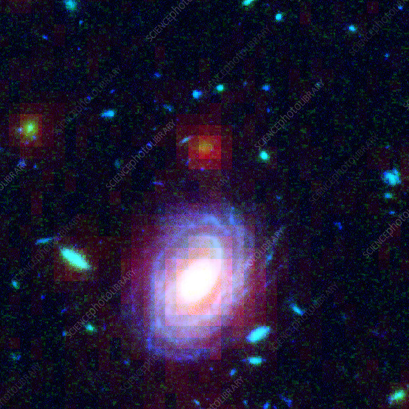 Distant galaxy HUDF-JD2, HST-SST image