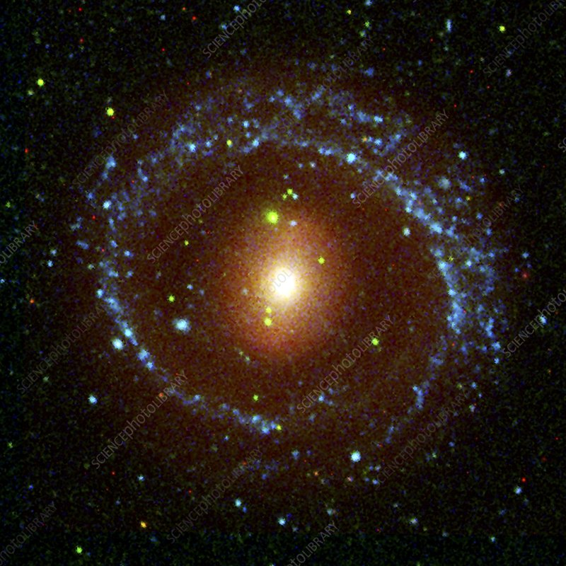 Ring galaxy NGC 1291, composite image