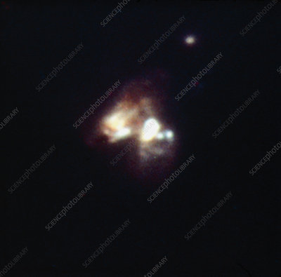 Optical CCD image of two interacting galaxies