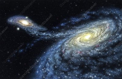 Milky Way galactic collision