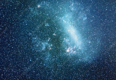 Optical photo of the Large Magellanic Cloud