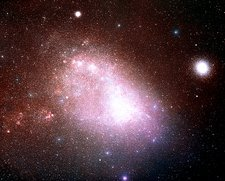 Optical image of the Small Magellanic Cloud (SMC)